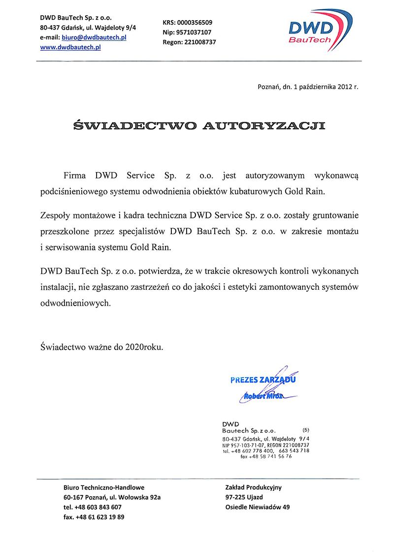 Autoryzacja - DWD BauTech